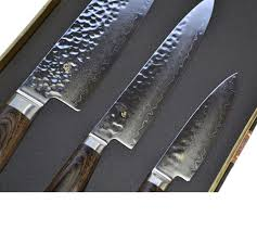 Shun Kitchen Knives by New Shun Premier 3 Piece Knife Set Gift Boxed Slice Slicing Cut