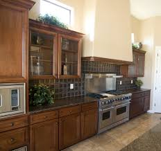 Traditional Kitchen Design With Glass Kitchen Cabinet Doors Dark