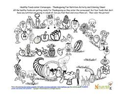cornucopia healthy foods activity and coloring sheet clinic