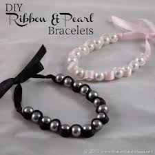 pearl ribbon that s what che said diy ribbon and pearl bracelets