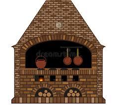 fourneau de cuisine illustration d un vieux cheminée fourneau traditionnel de cuisine