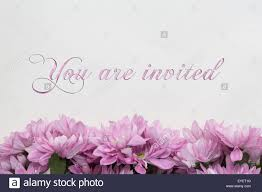 Invitation Card Stock You Are Invited Invitation Card Flowers And Beautiful Text