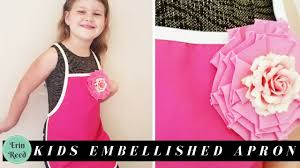diy embelished kids apron for parties and crafts youtube