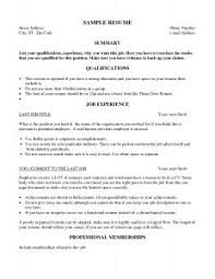 Resume Examples Basic by Free Resume Templates Cv Template And Get High On Pinterest