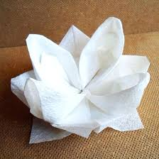 Lotus Blossom Origami - lotus serviette folding bird of paradise napkin fold lotus blossom