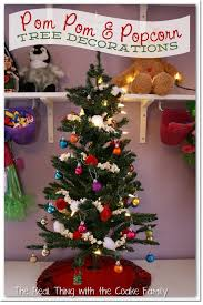 Decorative Christmas Tree Garland by Tree Decorating Ideas Popcorn And Pom Pom Garland The Real