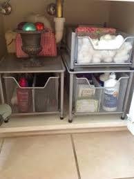 under bathroom sink storage under bathroom sink organization why didn t i think of this before