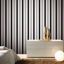 Silver Metallic Wallpaper by Aliexpress Com Buy Brief Silver Black White Striped Wallpaper