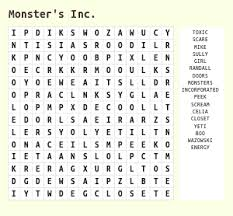 easy crossword puzzles about movies disney animated movies word search