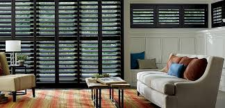 Wood Plantation Blinds Shutters Living Room Dark 772x372 Jpg
