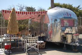 Red And White Striped Awning Vintage Trailer Awnings From Oldtrailer Com