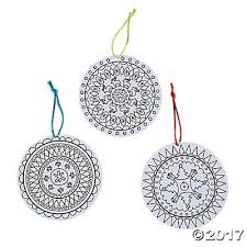 your own mandala ornaments