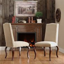 Microsuede Dining Chairs Microfiber Dining Chairs Lorell Peat Microfiber Nailhead