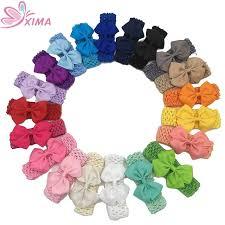 crochet elastic ribbon aliexpress buy xima 20pcs lot 3inch grosgrain ribbon bows
