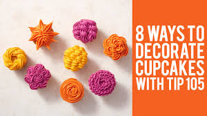 Wilton Cupcake Decorating How To Decorate Cupcakes With Tip 105 U2013 8 Ways Youtube