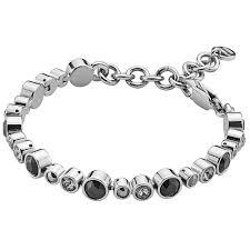 silver bracelet with crystal images Dyrberg kern teresa bracelet in silver black crystal jpg