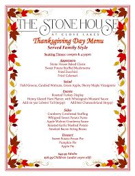 thanksgiving dessert menu thanksgiving day menu the stone house