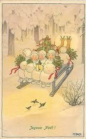 joyeux noël merry christmas charming vintage image by pauli