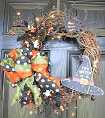 Fall Halloween Wreaths by Fall Wreath Halloween Wreath Witch Ghosts Bats 20 Inch The