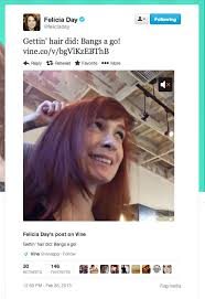 what is felicia day s hair color bang bang the flog s felicia day gets her hair did kelly sue