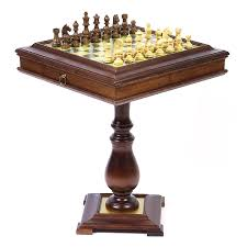 italian alabaster chess table with storage hayneedle