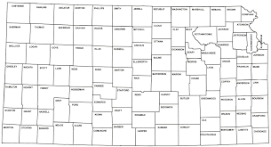 map of counties in kansas county history project kansapedia kansas historical society