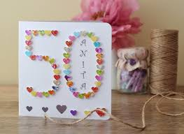 50th Birthday Cards For 50th Birthday Card Personalised Age 50 Card Fiftieth
