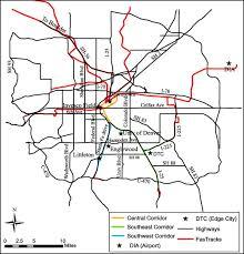 denver light rail expansion map impact of light rail on traffic congestion in denver sciencedirect