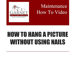 How To Hang Things Without Nails Video Library Garnet Real Estate Services