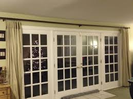 Window Coverings For French Doors Interior Black And White Fabric Door Curtain Connected By Double