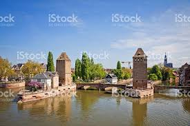 province france strasbourg city alsace province france view from barrage vaub stock