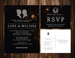 wars wedding invitations printable or set of 25