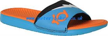 kd slides classic brands quicksilver basis flip flops blue black men s