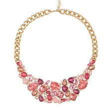 pink necklace images Pink hope jeweled collar necklace avon jpg