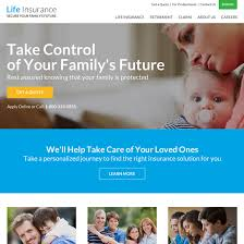 best converting life insurance company html website template