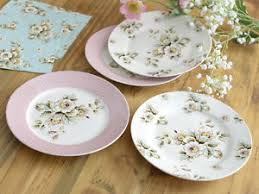 set of 4 katie alice cottage flower shabby chic side plates