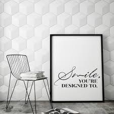 aliexpress com buy smile inspirational wall art print quote