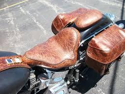 Motorcycle Seats Upholstery Midwest Auto Tops U0026 Upholstery Custom Leather Seat U0026 Saddle Bags