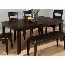 jofran rustic prairie distressed dining table with butterfly leaf