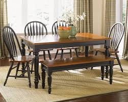 Black Dining Room Set Furniture Low Country Black 6 Piece 58x38 Rectangular Dining Room