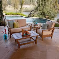 polywood harbour collection 4 pc outdoor living patio set deep