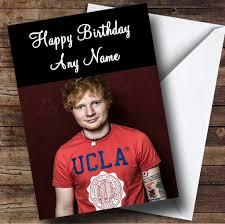 ed sheeran personalised birthday card the card zoo