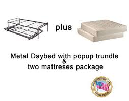 amazon com twin size metal day bed daybed frame u0026 pop up