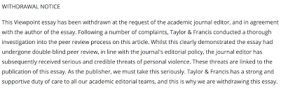 author of article on u201cthe case for colonialism u201d withdraws it after