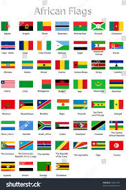 Flags Of African Countries Flags Individual African Countries Stock Vektorgrafik 12819109