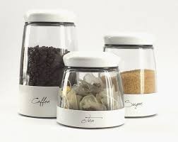 White Kitchen Canisters Sets by Modern Kitchen Containers Rigoro Us