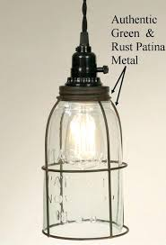 Jar Pendant Light Primitive Half Gallon Jar Swag L L Shade Pro