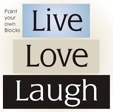 3 pc stencil live love laugh country family home decor primitive