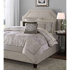 amazon com madison park athena 6 piece jacquard duvet set full