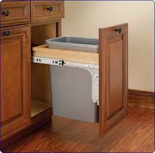 kitchen cabinet trash pull out garbage kitchen cabinet a reader asks place for in the